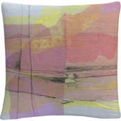 Trademark Fine Art Pitch 1 Colorful Shapes Composition Decorative Throw Pillow