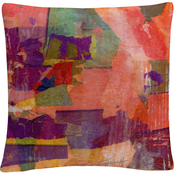 Trademark Fine Art Wanderings' Colorful Shapes Composition Decorative Throw Pillow