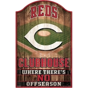 WinCraft MLB Baseball 11 x 17 in. Wood Sign