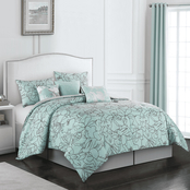 Nanshing America Inc. Cattleya 7 Pc. Comforter Set