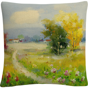 Trademark Fine Art A New Day II Landscape Path Decorative Throw Pillow