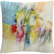 Trademark Fine Art Ramblings Colorful Composition Decorative Throw Pillow