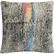 Trademark Fine Art Flame On Black Colorful Composition Decorative Throw Pillow