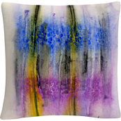 Trademark Fine Art Aural Colorful Shapes Line Composition Decorative Throw Pillow