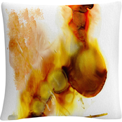 Trademark Fine Art Abstract Number 15 Splatter Paint Decorative Throw Pillow