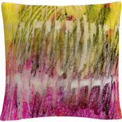 Trademark Fine Art Glazed Kinetics Colorful Composition Decorative Throw Pillow