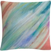 Trademark Fine Art Sorbet Skies Colorful Composition Decorative Throw Pillow