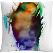 Trademark Fine Art Abstract Number 07 Splatter Paint Decorative Throw Pillow