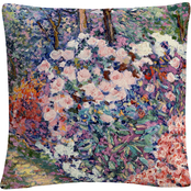 Trademark Fine Art Flowers In The Forest Pink Abstract Decorative Throw Pillow