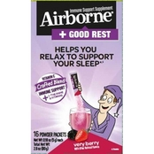 Airborne Rest Well Very Berry Powder. 16 ct.