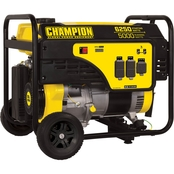 Champion 5000W Portable Generator with Wheel Kit
