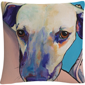 'Head Rest' By Pat Saunders White Decorative Throw Pillow