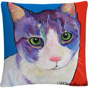 Trademark Fine Art Frenchy Animals Pets Painting Bold Decorative Throw Pillow