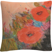 'Through The Garden' Bold Floral Motif' By Sheila Golden Decorative Throw Pillow