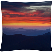 Trademark Fine Art Mount Mitchell Sunset Decorative Throw Pillow
