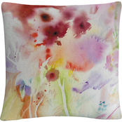 'Garden Impressions 3' Watercolor Bleed' By Sheila Golden Decorative Throw Pillow