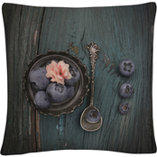 Trademark Fine Art Pretty Blueberry Decorative Throw Pillow