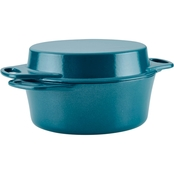Rachael Ray Cast Iron Double Duty 4 qt. Casserole with 10 in. Griddle Lid