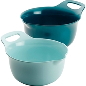 Rachael Ray 2 Piece Mixing Bowl Set Blue