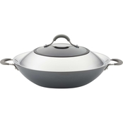 Circulon Elementum 14 in. Covered Wok with Side Handles