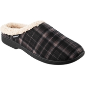 Isotoner Men's Plaid Milo Hoodback Slippers