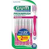 GUM Proxabrush Go-Betweens Cleaners Moderate 10 ct.