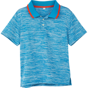 Buzz Cuts Boys Heather Polo Top