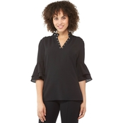 Michael Kors Grommet Bell Sleeve Top