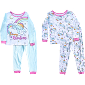 Hasbro My Little Pony Toddler Girls Dreaming Rainbow Pajamas 4 pc. Set