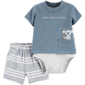 Carter's Infant Boys Double Decker Bodysuit and Striped Shorts 2 pc. Set