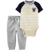 Carter's Infant Boys Football Henley Bodysuit 2 pc. Pants Set