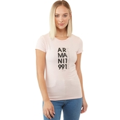 Armani Exchange Misses Text Logo Tee