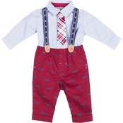 Little Lads Infant Boys Cars 4 pc. Suspender Set