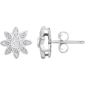 Sterling Silver Diamond Accent Earrings