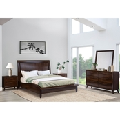 Abbyson Alfred 5 Piece Bedroom Set, Queen