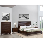 Abbyson Alfred 4 Piece Bedroom Set, Queen