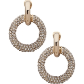 Lauren Ralph Lauren Goldtone Crystal Pave Clip Drop Earrings