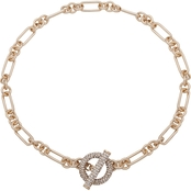 Lauren Ralph Lauren Goldtone Crystal Link Toggle Necklace