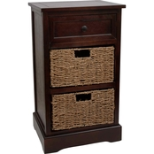 Decor Therapy Montgomery One Drawer, 2 Basket Accent Chest