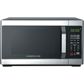 Farberware Classic 0.7 Cubic Foot Microwave Oven, Brushed Stainless