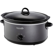 Crock-Pot 7 Qt Manual Slow Cooker, Metallic Charcoal