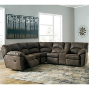 Signature Design by Ashley Tambo Reclining Sectional with Rocker Recliner
