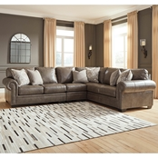 Signature Design by Ashley Roleson 3 pc. RAF Sofa Sectional with Armless Chair