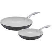 GreenLife Classic Pro 8 and 10 Ceramic Non-Stick Open Frypan 2 pc. Set