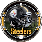 NFL Chrome Round Wall Clock 12