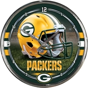 WinCraft NFL Football Chrome 12 in. Round Wall Clock