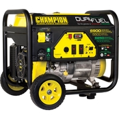 Champion 5500-Watt Dual Fuel Portable Generator with Wheel Kit