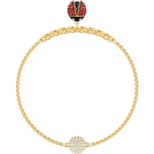 Swarovski Goldtone Remix Collection Ladybug Strand