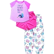 Nickelodeon Girls JoJo Pretty Bow 3 pc. Pajama Set