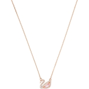Swarovski Rose Goldtone Dazzling Swan Necklace
